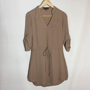 Seductions by siren light brown loose mini dress